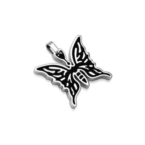 pendant Body Art 07SSP-6993-BLK - Black Butterfly