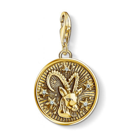 Ladies Thomas Sabo Gold Plated Sterling Silver Charm Club Zodiac Sign Capricorn Charm 1661-414-3
