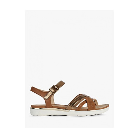 Geox Women's Hiver Leather Cross Over Sandals