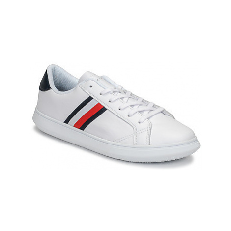 Tommy Hilfiger ESSENTIAL LEATHER CUPSOLE men's Shoes (Trainers) in White