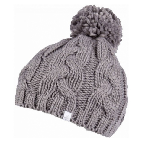Lewro CATERPIE grey - Girls' knitted hat