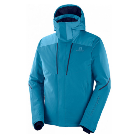 Salomon STORMSEASON JKT M blue - Men's ski jacket