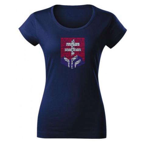 Střída SLOVAKIAN ANTHEM LOGO dark blue - Women's T-shirt