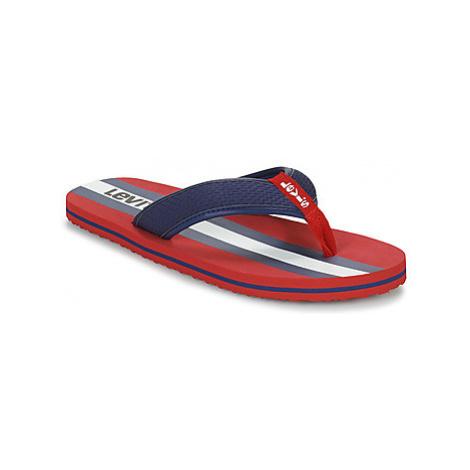 Levis DODGE SPORTSWEAR men's Flip flops / Sandals (Shoes) in Red Levi´s