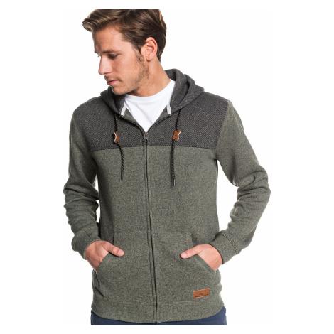 sweatshirt Quiksilver Keller Block Zip - CQYH/Thyme Heather - men´s