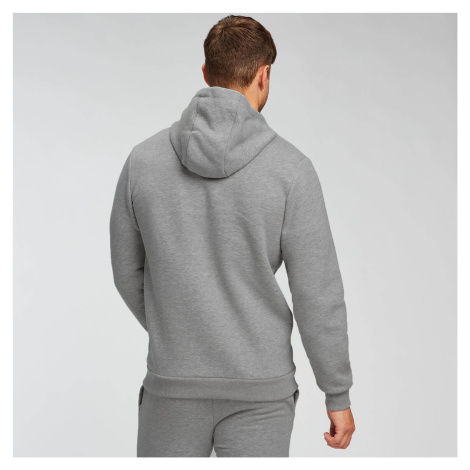 MP Men's Essentials Zip Through Hoodie - Grey Marl Myprotein