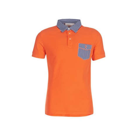 Vicomte A. POLO HOMME MC REGINE POCHE POITRINE ORANGE AS men's Polo shirt in Orange