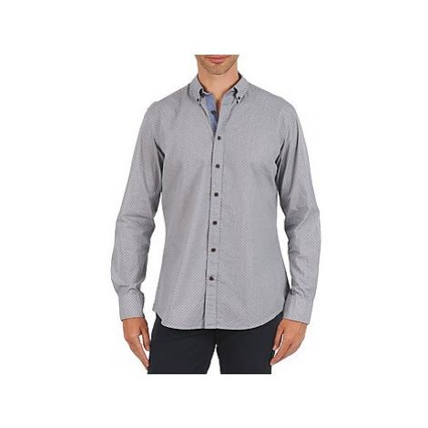 Blue men's elegant shirts