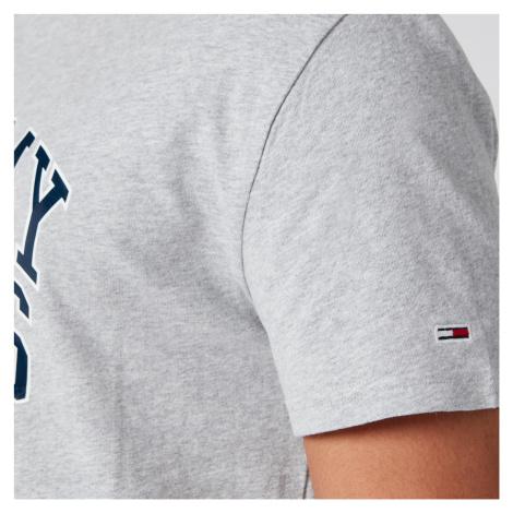 Tommy Jeans Men's Novel Varsity Logo T-Shirt - Light Grey Heather Tommy Hilfiger
