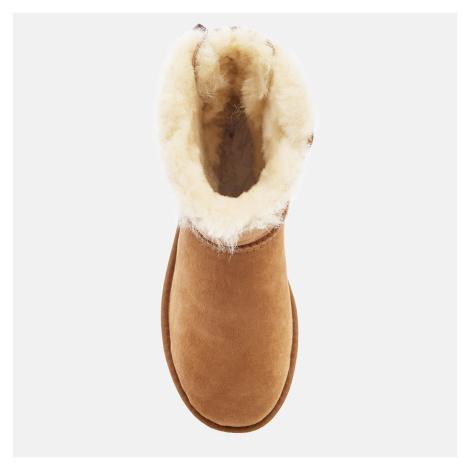 UGG Women's Mini Bailey Bow II Sheepskin Boots - Chestnut - UK