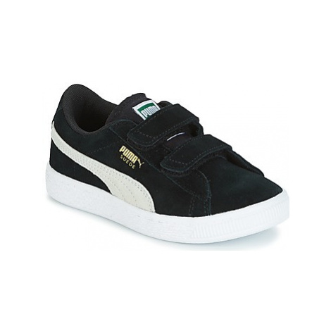 Puma SUEDE 2 STRAPS PS girls's Children's Shoes (Trainers) in Black