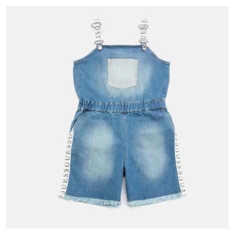 Guess Girls' Denim Shortall Dungarees - Blue Wash
