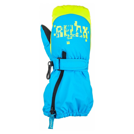 glove Relax Puzzyto - RR17H/Blue/Neon Yellow - kid´s