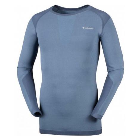 Columbia SEAMLESS LS CREW blue - Men's functional T-shirt