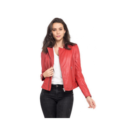 Oakwood Perfecto in sheep leather women's Leather jacket in Red