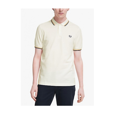 Fred Perry Twin Tipped Polo Shirt, Snow White
