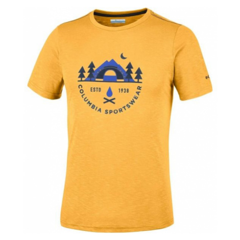 Columbia NELSON POINT GRAPHIC SHORT SLEEVE TEE yellow - Men's T-shirt