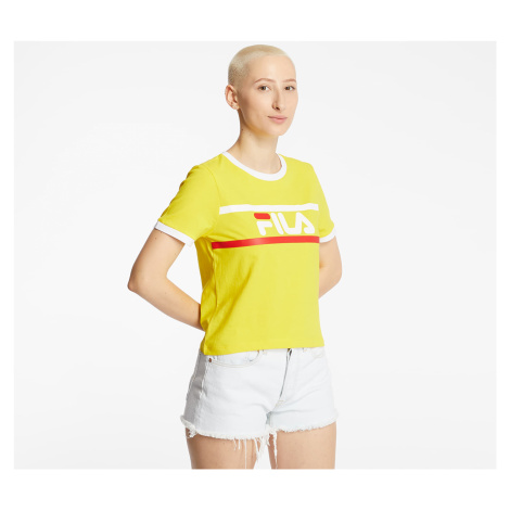 Fila Ashley Cropped Tee Empire Yellow
