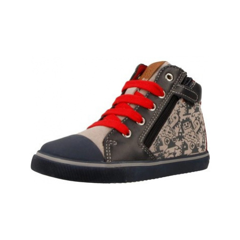 Geox B KILWI BOY boys's Children's Shoes (High-top Trainers) in Red