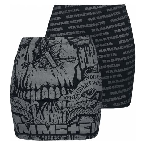Rammstein - Logo - Skirt - black-grey