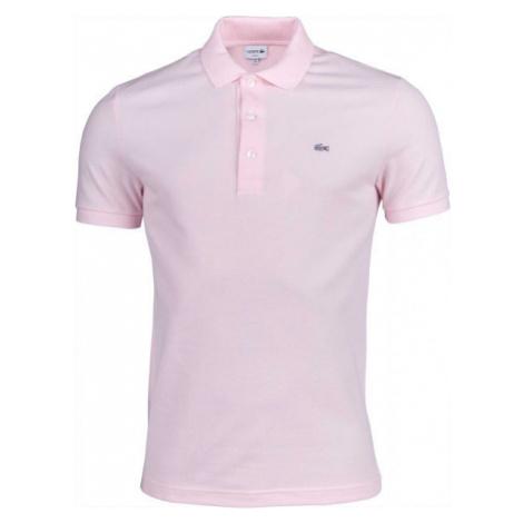 Lacoste SLIM SHORT SLEEVE POLO light pink - Men's polo shirt