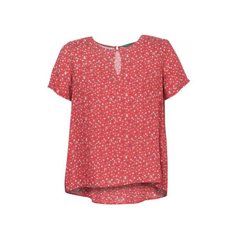 Benetton POLIFOU women's Blouse in Red United Colors of Benetton