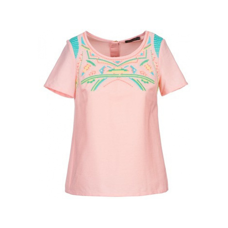 Color Block ADRIANA women's Blouse in Pink