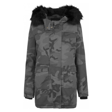 Urban Classics Ladies Overdyed Camo Parka dark camo
