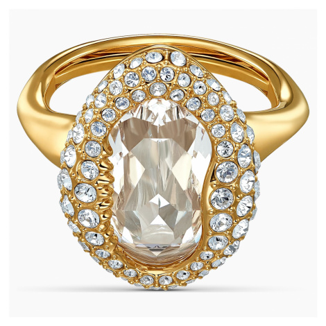 Shell Ring, White, Gold-tone plated Swarovski