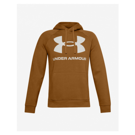 Under Armour Rival Fleece Big Logo Sweatshirt Brown Orange