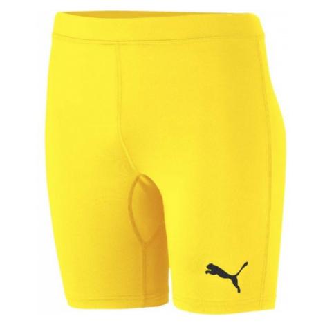 Puma LIGA BASELAYER SHORT TIGHT yellow - Men's underwear