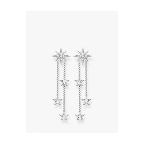 THOMAS SABO Magic Stars Double Chain Drop Earrings, Silver