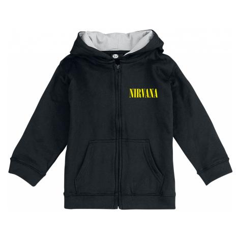 Nirvana - Smiley - Kids hooded zip - black