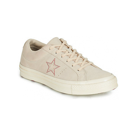 Converse ONE STAR LOVE IN THE DETAILS SUEDE OX women's Shoes (Trainers) in Beige