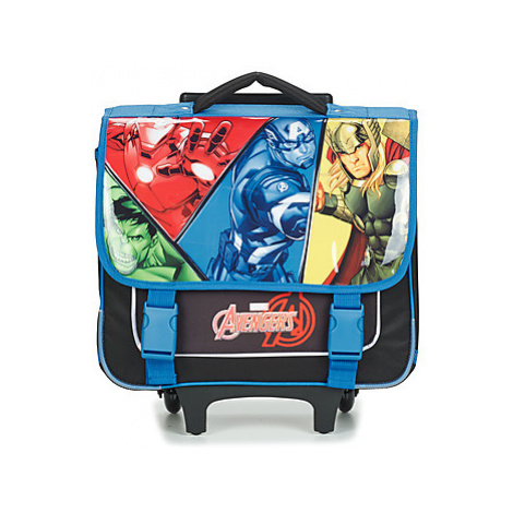 Disney AVENGERS CARTABLE A ROULETTES 38CM boys's Children's Rucksack in Black