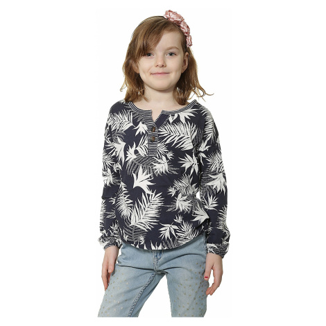 Roxy Warmin UP LS T-shirt - BTN6/Indo Floral Peacoat
