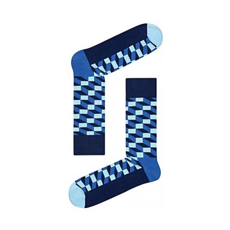 Happy Socks Filled Optic Print Socks, One Size, Navy