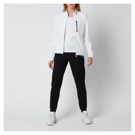 Emporio Armani EA7 Women's Train Track Suit - White/Black