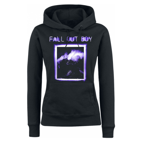 Fall Out Boy - Neon Window - Girls hooded sweatshirt - black