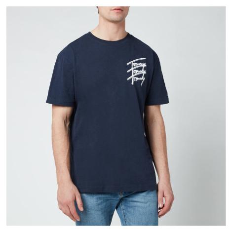 Tommy Jeans Men's Repeat Script Logo T-Shirt - Twilight Navy Tommy Hilfiger