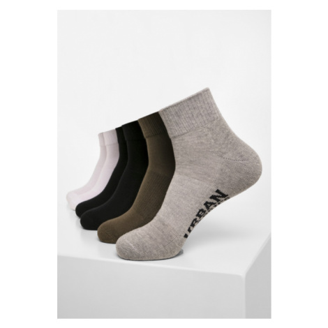 Urban Classics High Sneaker Socks 6-Pack black/white/grey/olive