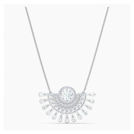 Swarovski Sparkling Dance Dial Up Necklace, Short, White, Rhodium plated