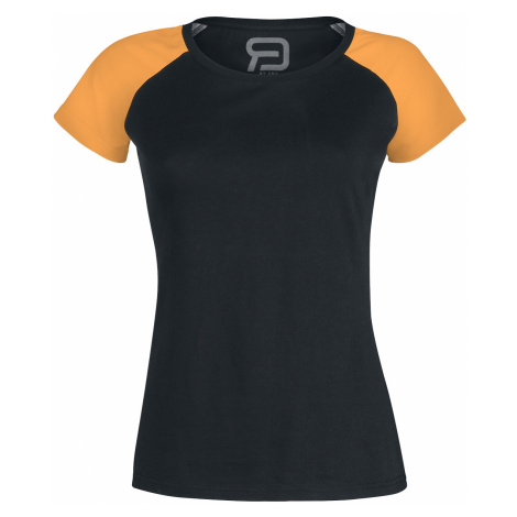 RED by EMP - Short Raglan Road - Girls shirt - black-orange
