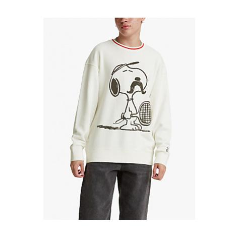 Levi's Peanuts Crew Neck Tennis Snoopy Sweatshirt, White/Multi Levi´s