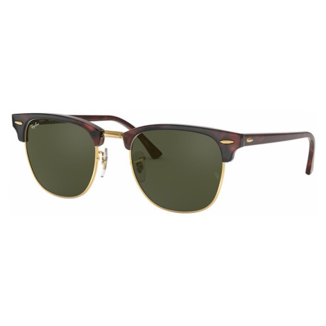 Ray Ban Unisex RB3016 CLUBMASTER CLASSIC - Frame color: Tortoise, Lens color: Green, Size 51-21/