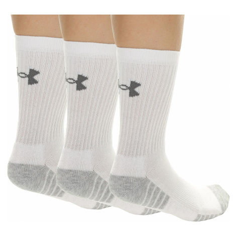 socks Under Armour Heatgear Tech Crew 3 Pack - 100/White/Gray
