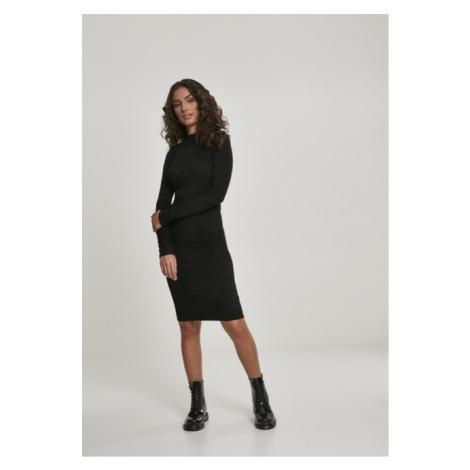 Urban Classics Ladies Peached Rib Dress LS black