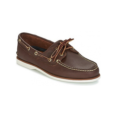 Timberland CLASSIC 2-EYE men's Boat Shoes in Brown