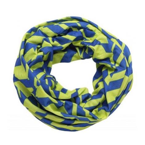 Finmark CHILDREN'S MULTIFUNCTIONAL SCARF green - Kids' multi-purpose scarf