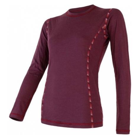 Sensor MERINO AIR wine - Women's T-shirt